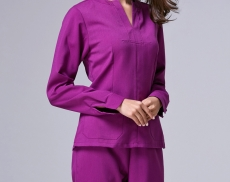 New-2015-Lab-Women-s-Hospital-Surgical-Medical-Uniform-Scrub-Clothes-Sets-Long-Sleeve-With-Detachable